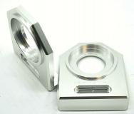 NEU Ducati M1000 u.a.  Kettenspanner Achsplatte Schwinge Schutz silver