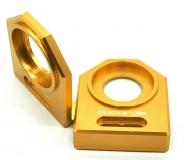 NEU Ducati M1000 u.a.  Kettenspanner Achsplatte Schwinge Schutz gold