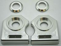 NEU Ducati M900 888  u.a.  Kettenspanner Achsplatte Schwinge Schutz silver