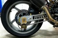 NEU Ducati M900 888  u.a.  Kettenspanner Achsplatte Schwinge Schutz black