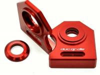NEU Ducati M900 888  u.a.  Kettenspanner Achsplatte Schwinge Schutz red